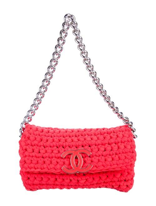 Chanel Fancy Crochet Flap Bag Red