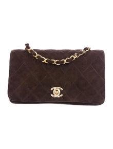 f72645da40e Chanel. Vintage Suede Mini Flap Bag.  1