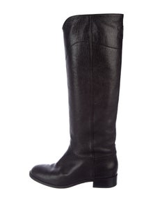 3a83e2678c9 Chanel. Leather Over-The-Knee Boots