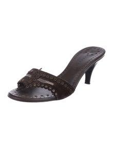 91300eab588 Chanel. Embellished Slide Sandals