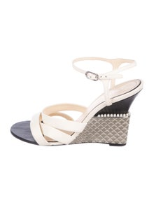 954f9d69634 Chanel. CC Leather Wedges