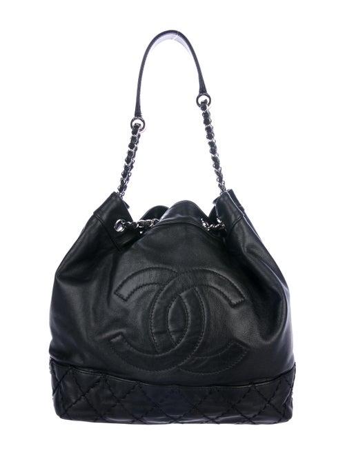 fcabb3b80b7b Chanel Surpique Drawstring Bucket Bag - Handbags - CHA342778   The ...