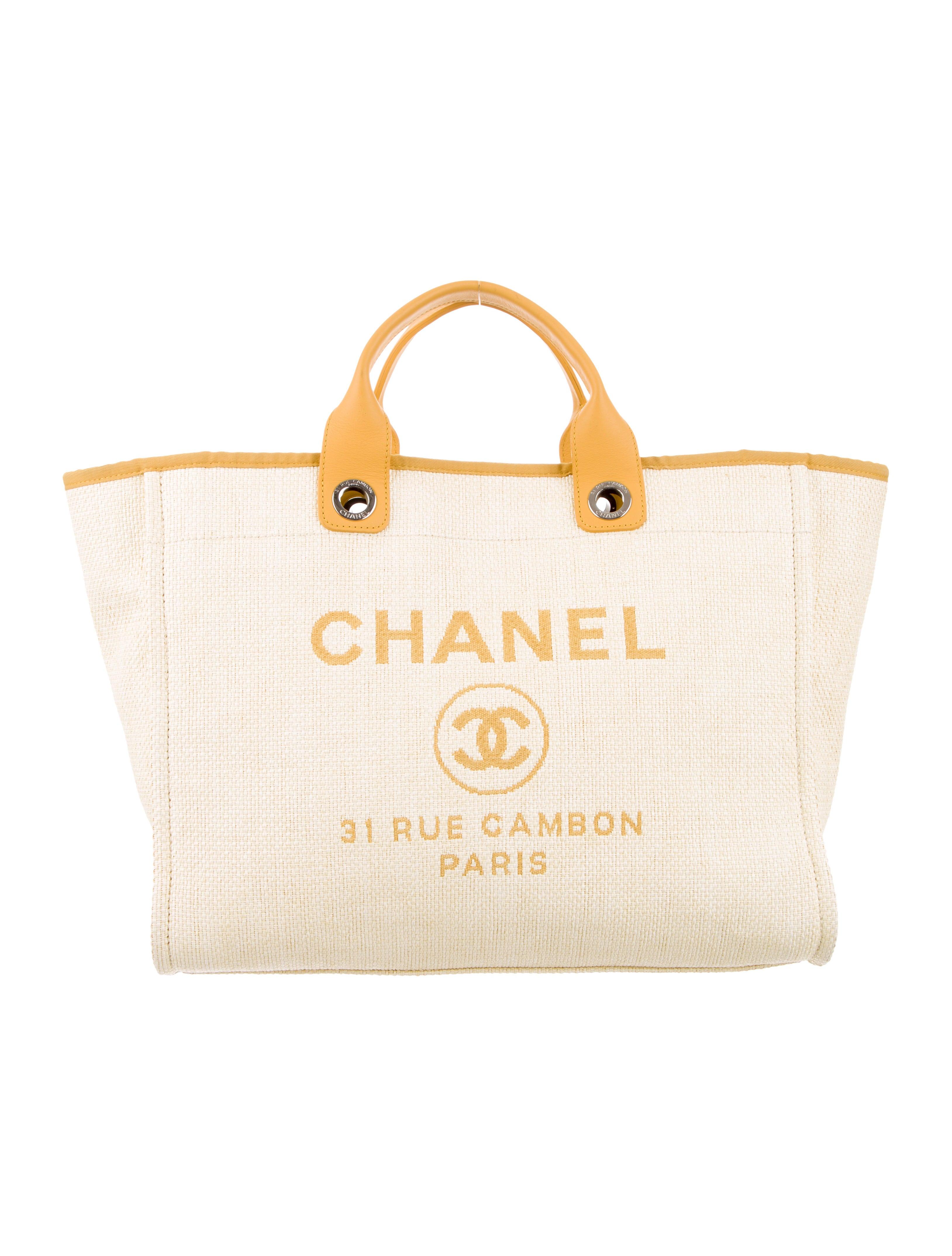 3cd8f4e6f835ea Chanel 2017 Raffia Large Deauville Tote - Handbags - CHA343224 | The ...