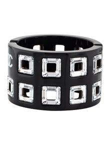 9e962446f42 Chanel. Square Crystal Hinge Cuff