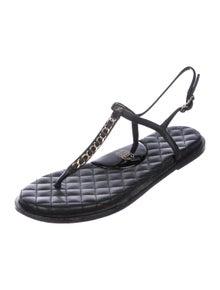 e9f3885e5 Chanel. Chain-Link CC Thong Sandals