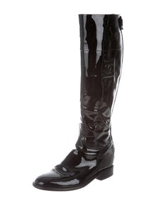 a6c8f54a1707 Chanel. CC Patent Leather Knee-High Boots