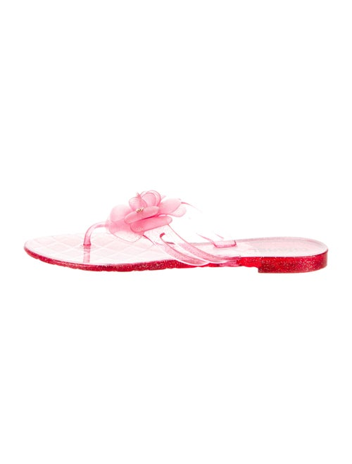 a3bf36e46d6 Chanel Camellia Jelly Sandals - Shoes - CHA345324