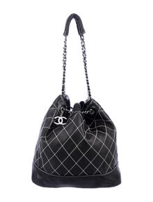 88a9e0f27371 Chanel. Surpique Drawstring Bucket Bag