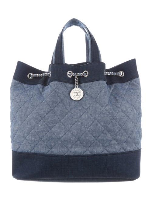 Chanel Denim Backpack Blue