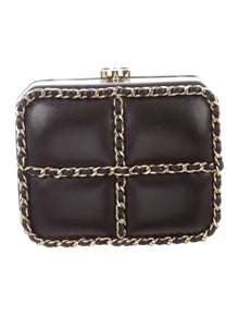 e12bc73a998b Chanel. Lambskin Chain-Link Box Bag.  2