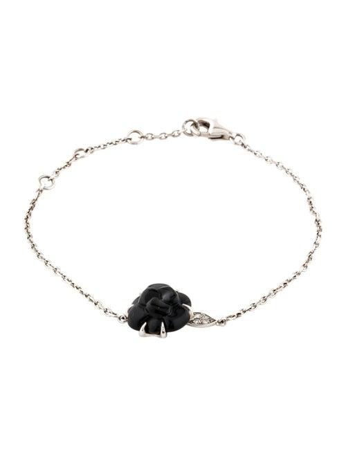94fb4163318859 Chanel 18K Onyx & Diamond Camélia Bracelet - Bracelets - CHA351003 ...