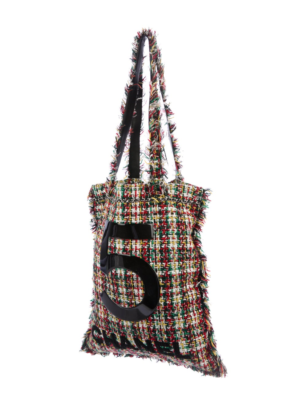 Chanel 2017 Large Tweed Shopping Bag Green - image 3