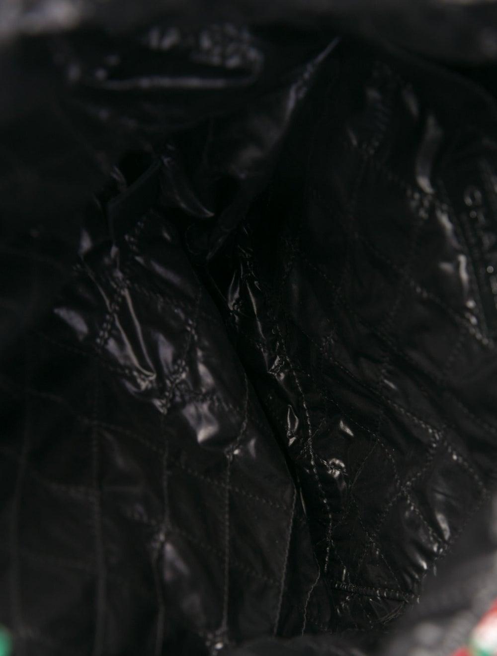 Chanel 2017 Large Tweed Shopping Bag Green - image 5