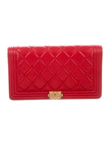603b333b844e Chanel. Quilted Boy Yen Wallet