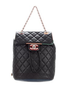 50833f647fd3 Vintage Quilted CC Backpack. $2,400.00 · Chanel