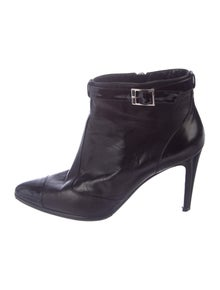 d11d56729605 Chanel. Leather Ankle Boots