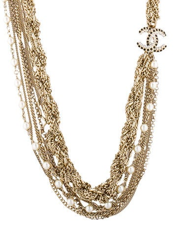 Strass CC Rope Necklace