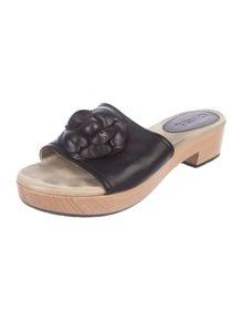 9197b734f4 Chanel. Camellia Slide Sandals