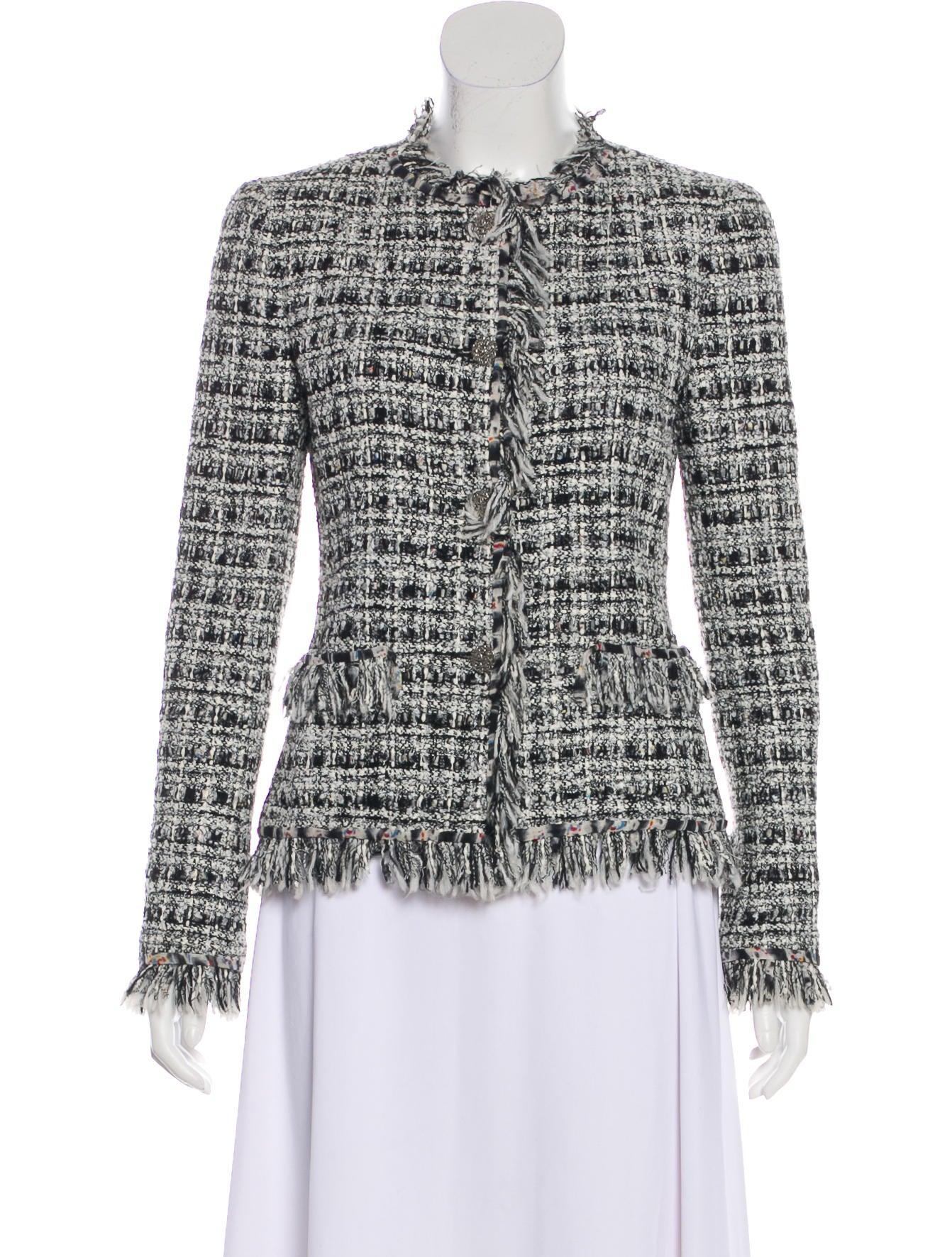 20f7d0ac8 Chanel Tweed Fringe Jacket - Clothing - CHA362371   The RealReal