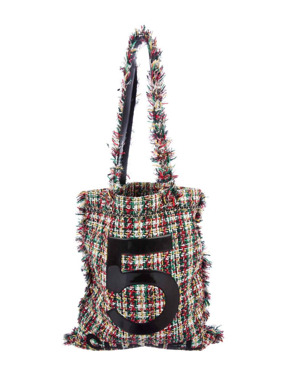 Chanel 2017 Large Tweed Shopping Bag White - image 1