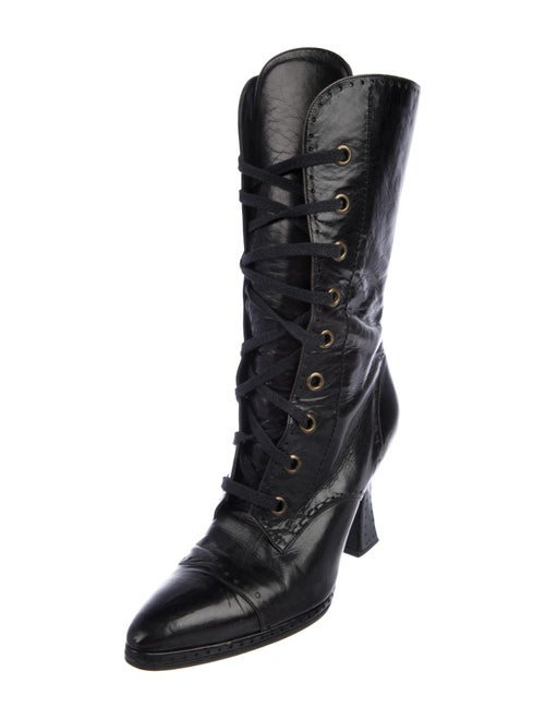 bba22cb300a Chanel Leather Mid-Calf Boots - Shoes - CHA376360 | The RealReal