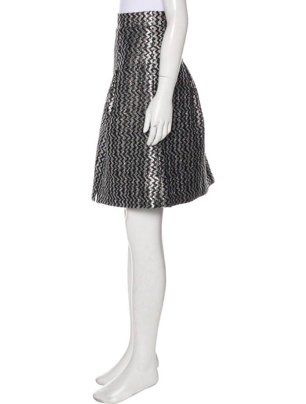 Chanel 2017 Metallic Skirt Silver - image 2