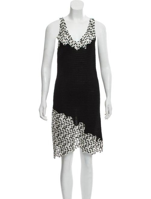 Chanel Sleeveless Asymmetrical Dress Black