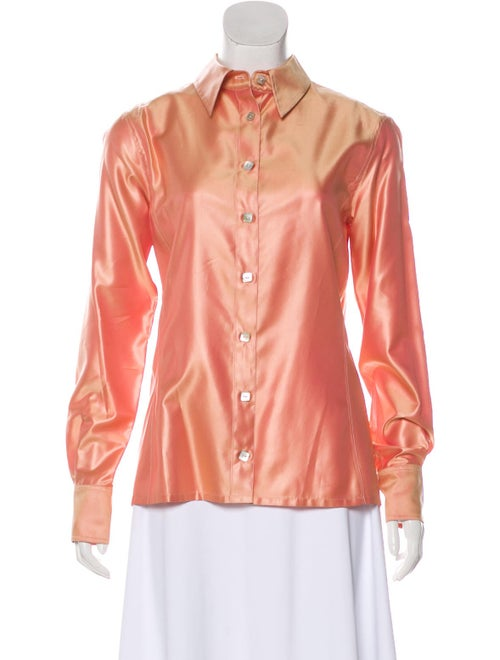 Chanel Long Sleeve Button-Up Blouse