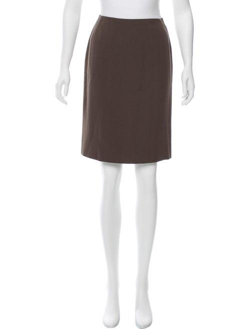 Chanel Knee-Length Pencil Skirt Green