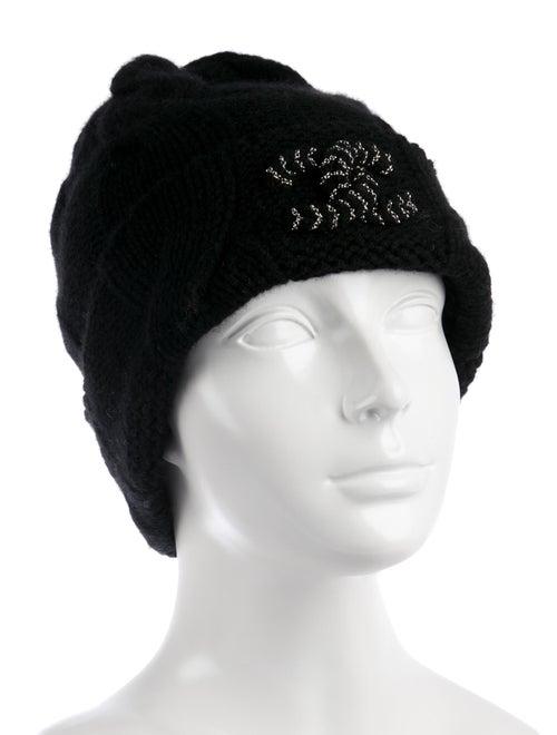 Cashmere Knit CC Beanie