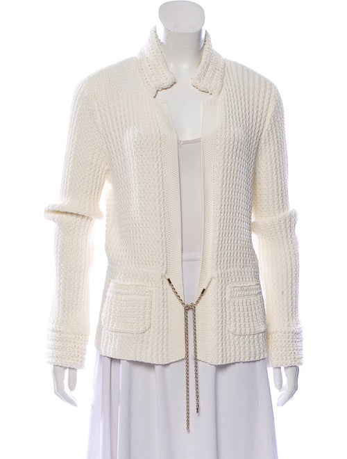 Chanel Textured Knit Cardigan gold