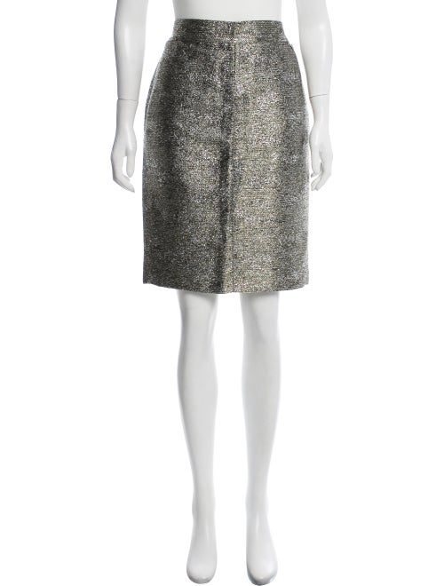 Chanel Metallic Knee-Length Skirt Metallic