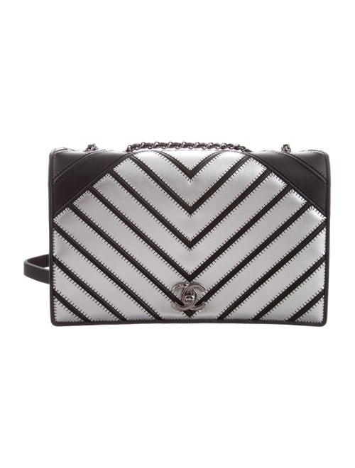 Chanel Chevron Couture Flap Bag Metallic
