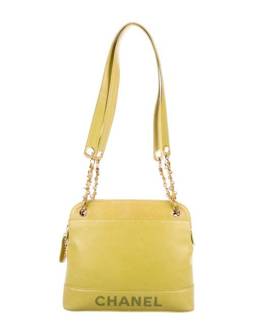 Chanel Vintage Logo Shoulder Bag Lime