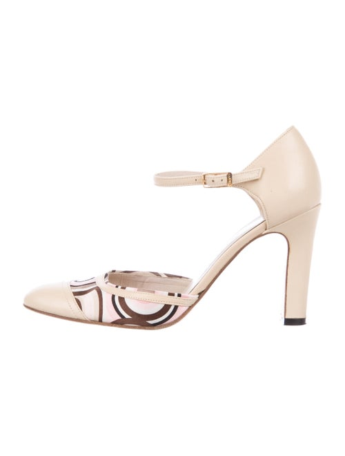 Chanel Leather Satin-Trimmed Pumps Nude