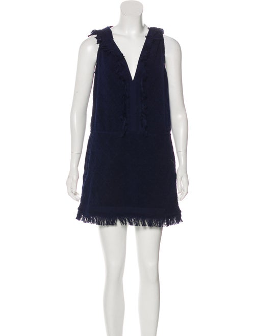 Chanel Hooded Terrycloth Dress Navy