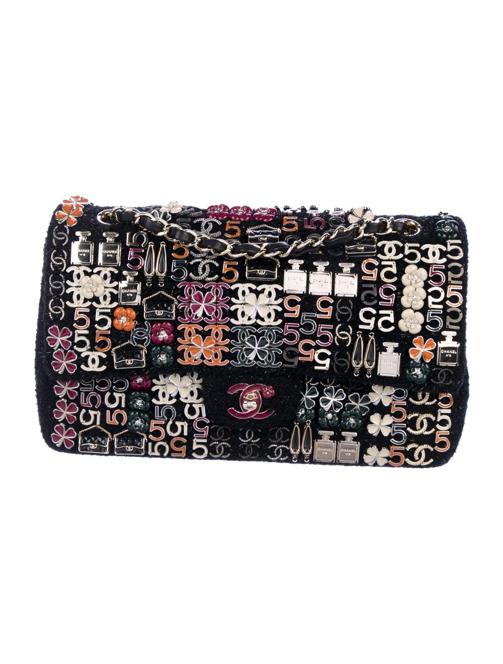 Chanel Enamel Jeweled Tweed Flap Bag Black - image 1