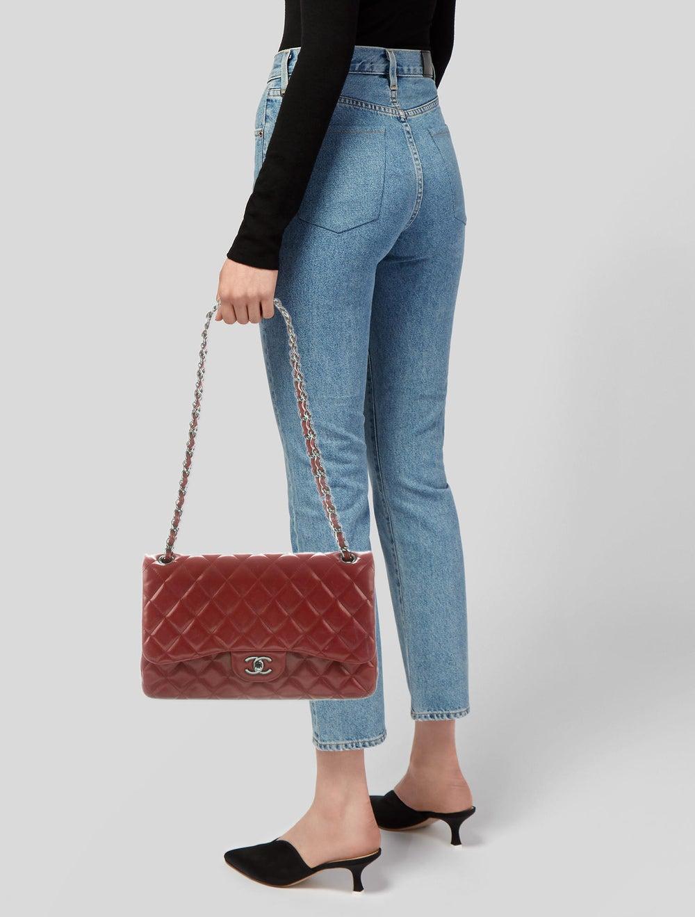 Chanel Jumbo Classic Double Flap Bag silver - image 2