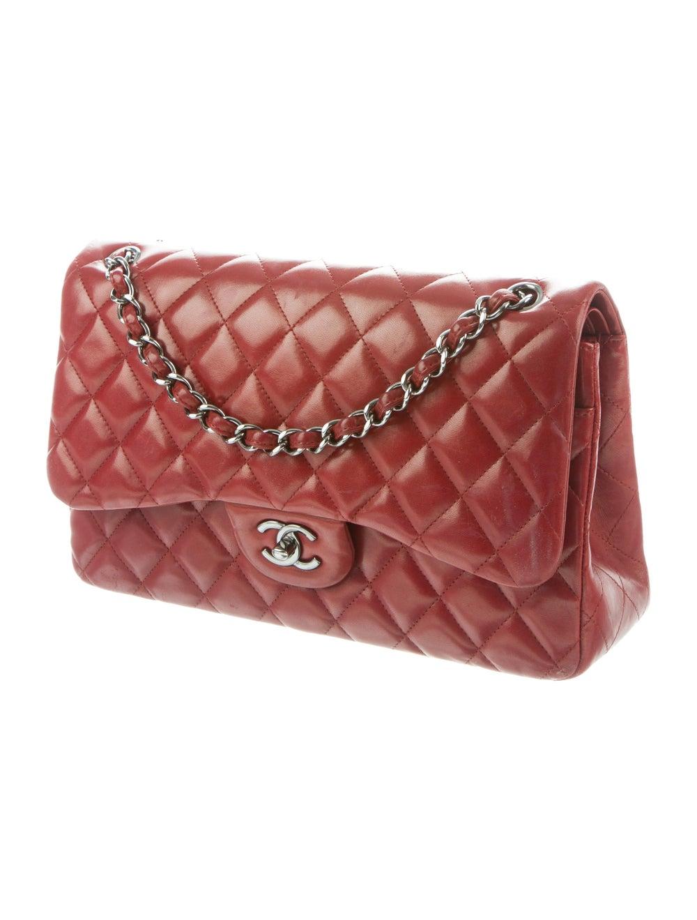 Chanel Jumbo Classic Double Flap Bag silver - image 3