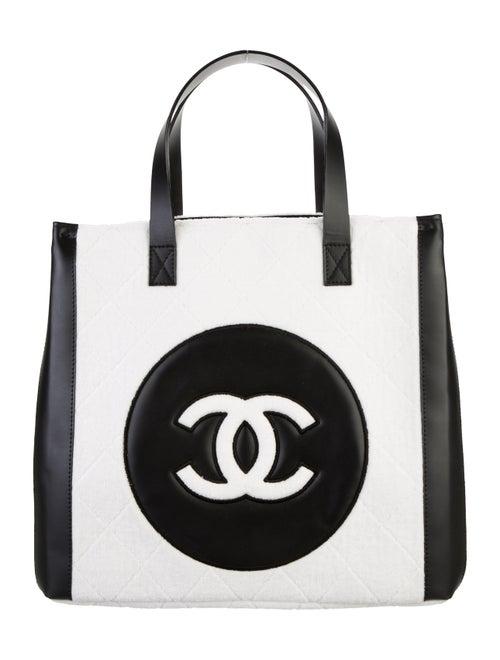 Chanel Terry Cloth CC Beach Tote White