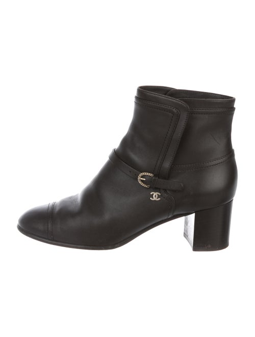 Chanel CC Leather Boots gold