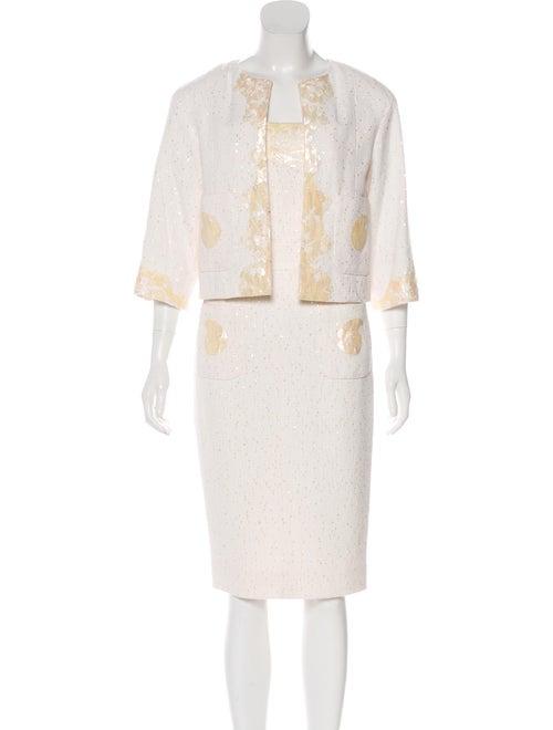 Chanel Embellished Tweed Dress Set - image 1