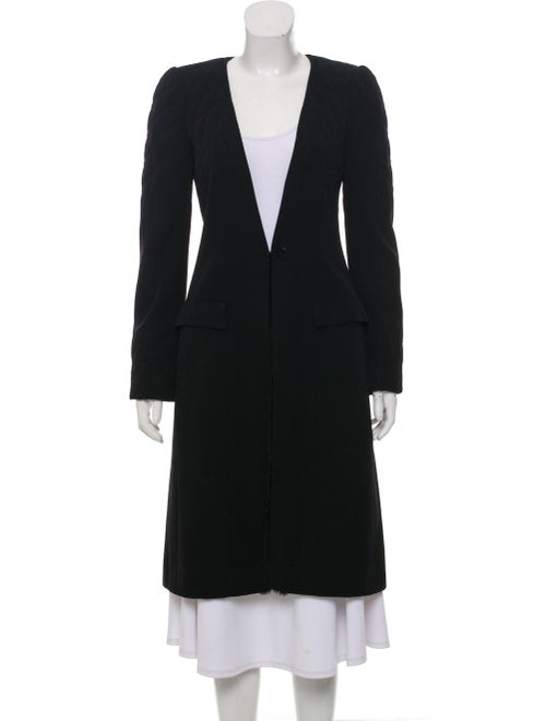 Chanel Long Quilted Coat Black