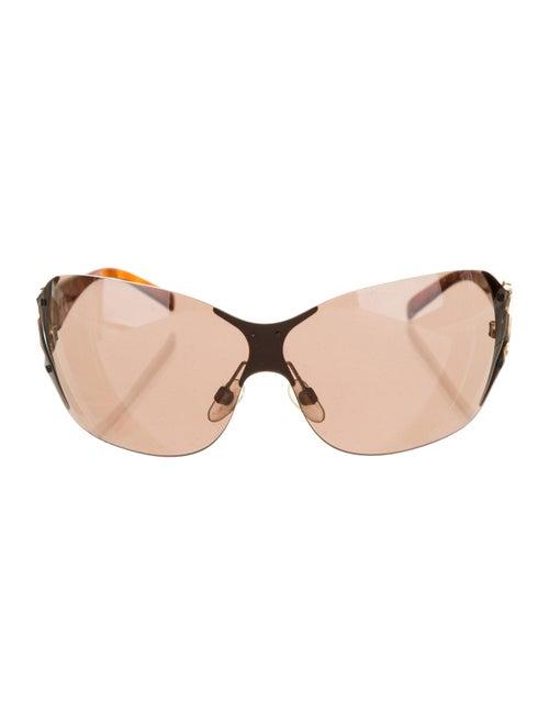 Chanel CC Shield Sunglasses Brown