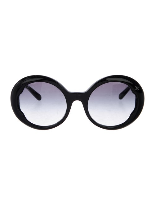 Chanel Round CC Sunglasses Black