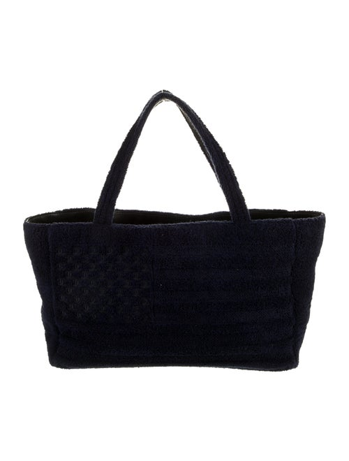 Chanel Terry Cloth Flag Beach Tote Navy