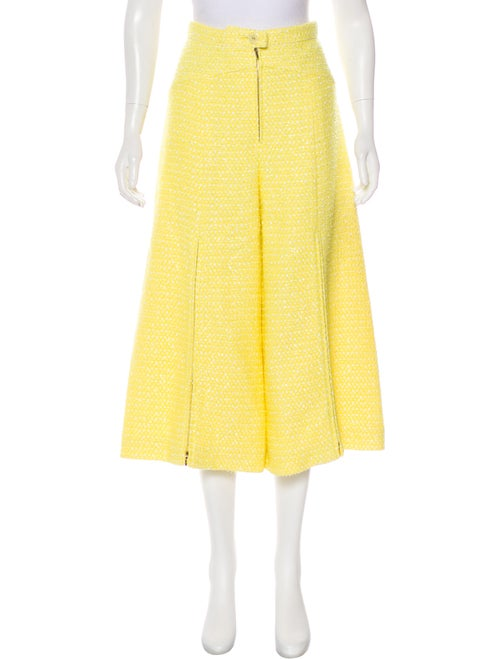 Chanel 2019 Boucle' Flared Pants w/ Tags Yellow