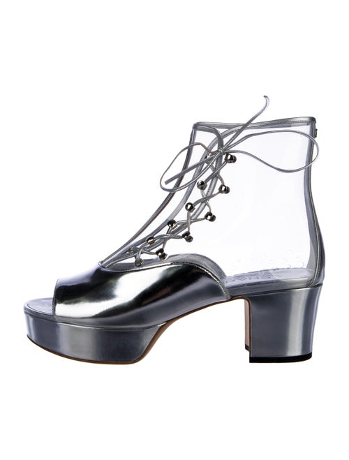Chanel PVC Platform Booties Clear