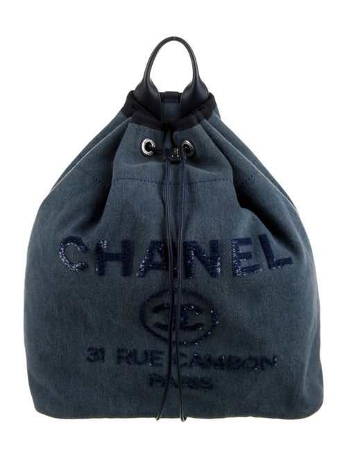 Chanel Deauville Backpack Blue
