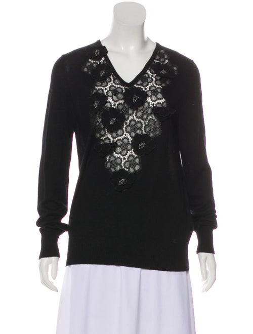 Chanel Cashmere Embroidered Sweater Black